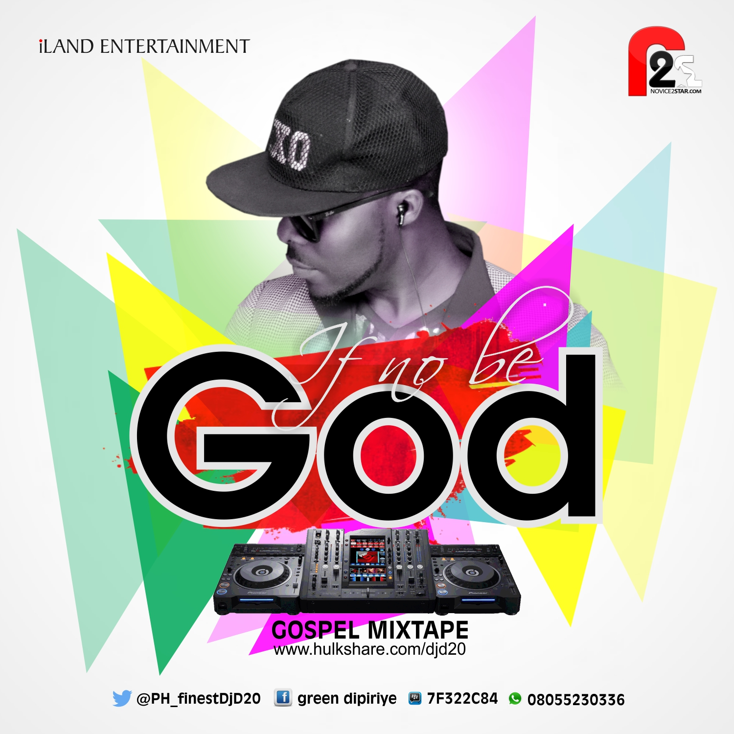 GOSPEL MIXTAPE: DJ D20 - IF NO BE GOD - Novice2STAR