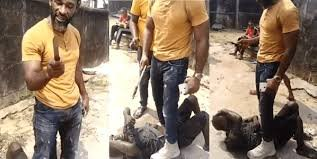 Nigerian Kick-Boxer, Agamaye Rowland disarms an alleged thief in Port Harcourt (VIDEO)