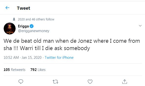 erigga replies kaligraph jonez