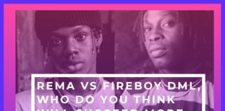 Rema VS Fireboy DML, Who Do You Think Will Succeed More in 2020