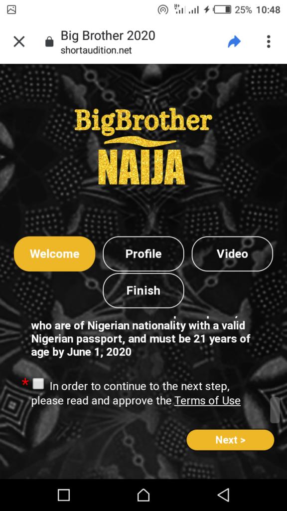 how to register for bbnaija 2020