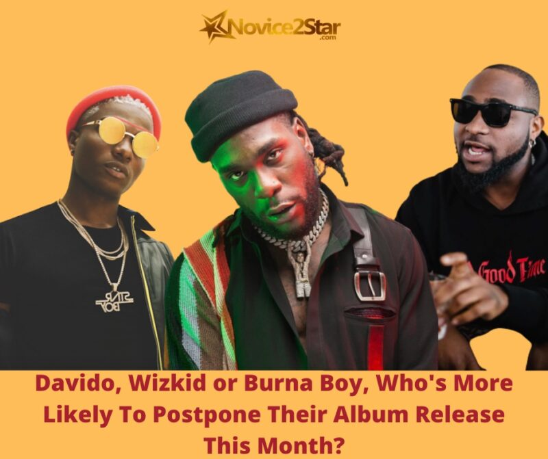 Davido, Wizkid or Burna Boy, Who's More Likely To Postpone Their Album Release This Month?