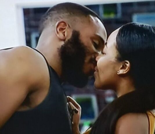 HoH Kiddwaya, And Former HoH, Erica All Loved Up As They Bite And Squeeze Each Other's Faces (VIDEO)