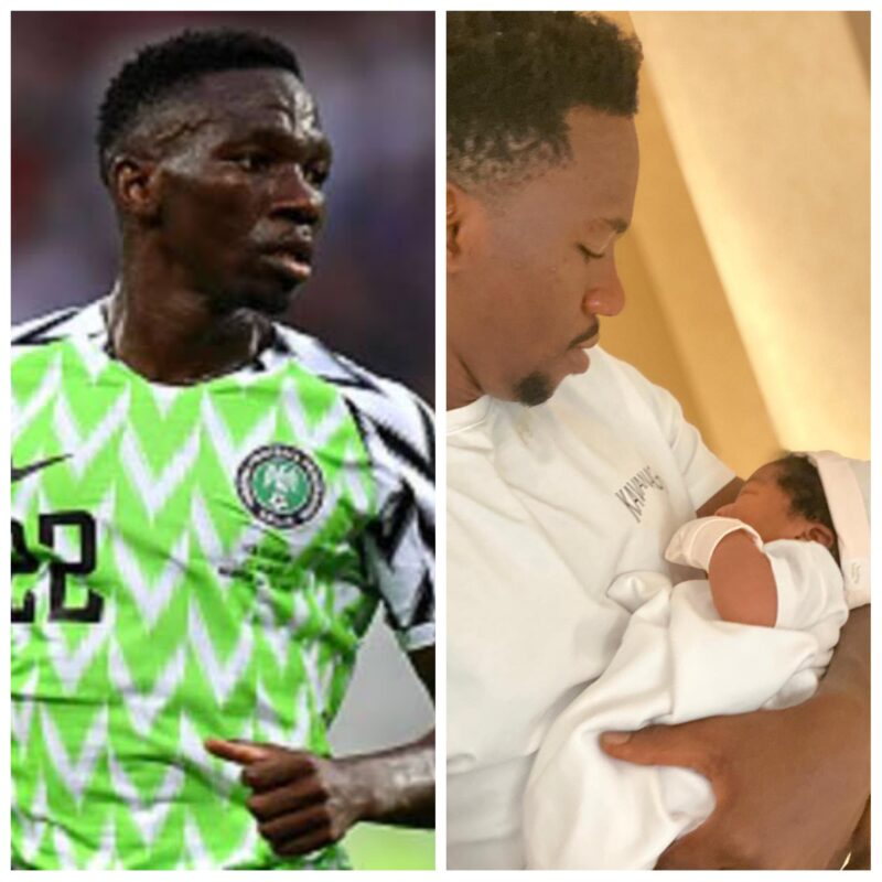Super Eagles' Defender, Kenneth Omeruo Welcomes Second Daughter With His Wife