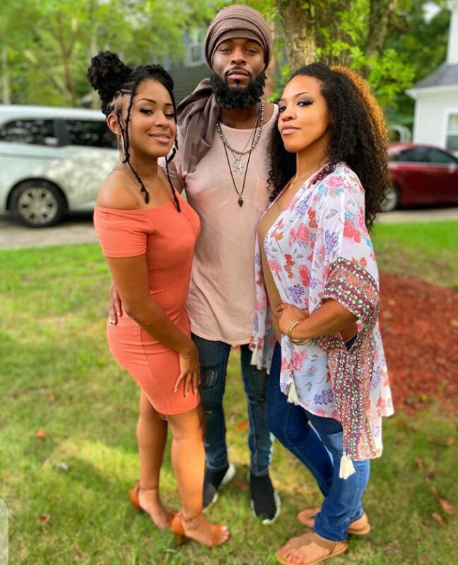 Kevin Wesley with his two lovely wives