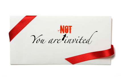 Shut the door on invitations