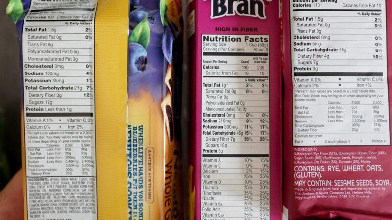 Always read a food label