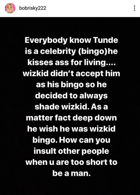 Tunde Ednut And Wizkid – Popular social media blogger, tunde ednut, has thrown a subtle shade at wizkid.