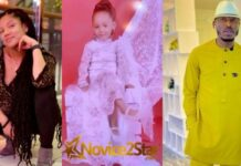 Ex BBNaija Housemate, Gifty Powers Calls Her Baby Daddy, Mr 2kay A Pig For Wishing Their Daughter A Happy Birthday