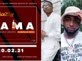 Wizkid, Burna Boy, Davido and Tiwa Savage Bags Nomination For MTV Africa Music Award (MAMA). See Full Nominee's List