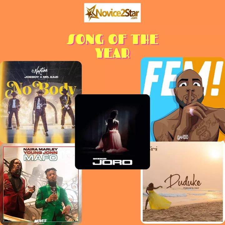 "Wizkid ""Joro"" VS Davido ""FEM"" - Choose Your Headies Song Of The Year 2020"