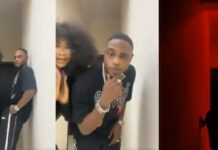 #BBNaija Tacha Joins The #Silhouettechallenge With Singer, L.A.X (VIDEO)