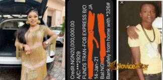 "Bobrisky Calls Herself No 1 ""Runs Girl"" in Nigeria, Shows Off #20,000,000 Credit Alert She Got After Using Kayamata"