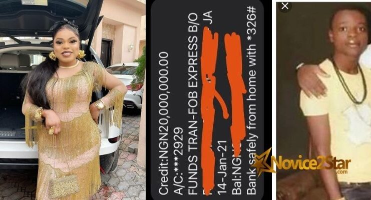 "Bobrisky Calls Herself No 1 ""Runs Girl"" in Nigeria, Shows Off #20,000,000 Credit Alert She Got After Using Kayamata"