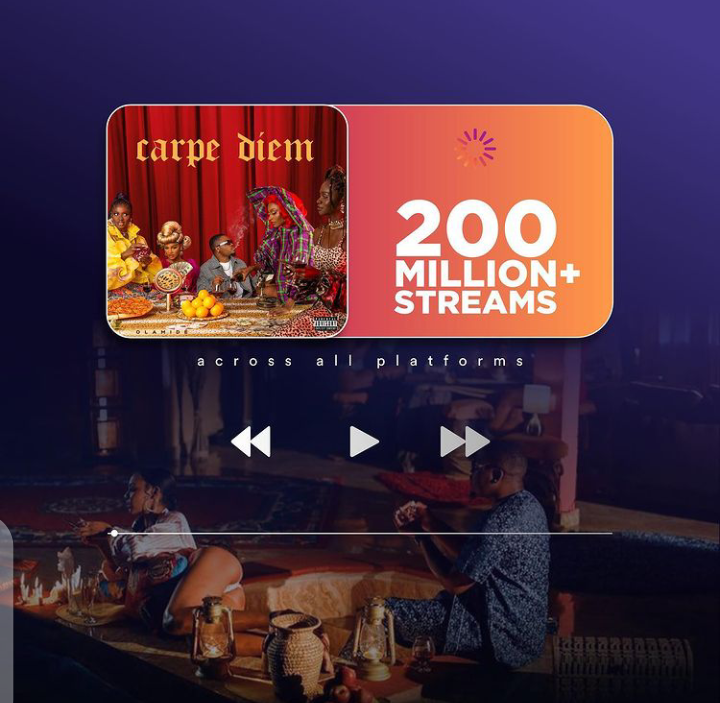 Olamide Carpe Diem 200 million streams