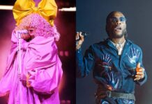 Fans React As Australian Singer, SIA, Announces Collaboration With Burna Boy