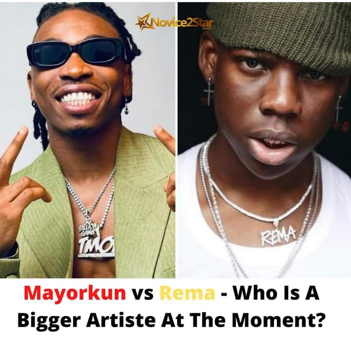 FULL STATISTICS: Mayorkun VS Rema - Who Is Winning?