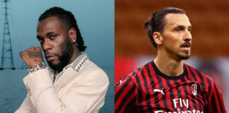 Burna Boy and Zlatan Ibrahimovic