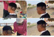 fans draws davido on his hair