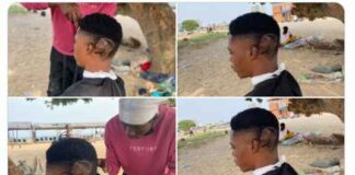 fans draws davido on his hair