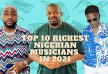 Top richest Nigerian musicians in 2021