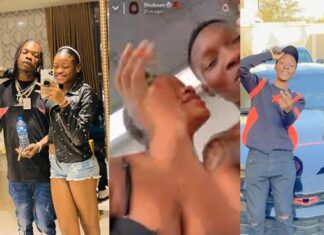 Zinoleesky Caught Kissing Naira Marley's Sister (See Video)